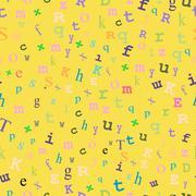 Yellow Type Seamless Design - stock illustration