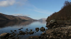 Shore of Loch Earn St Fillans Scotland Stock Footage