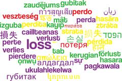 Stock Illustration of Loss multilanguage wordcloud background concept