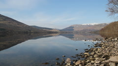 Shore of Loch Earn Scotland Stock Footage