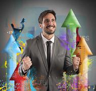 Financial success Stock Photos