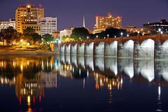 Harrisburg Pennsylvania at Night Stock Photos