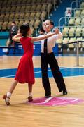 Dancing girl and boy - stock photo