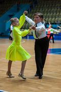 Dancing girl and boy Stock Photos
