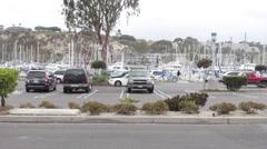 Dana Point Boat Harbor Stock Footage
