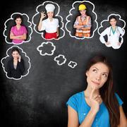 Career education - student thinking of future - stock photo