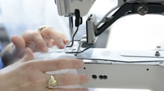 Textile sewing machine Stock Footage