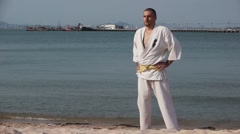Karate Oriental Martial Art Stock Video Footage - stock footage