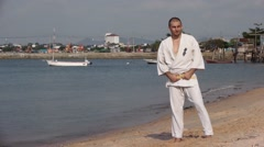 Karate Video Oriental Martial Art Stock Video Footage - stock footage