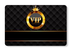 VIP Members Card Vector Illustration Stock Illustration