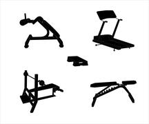 Set of Sports Trainer. Simulator. Isolated Vector Illustration - stock illustration