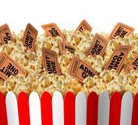 Movie Popcorn Tickets Piirros