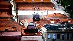 Portugal Porto Oporto Cable Car Teleferico de Gaia Stock Footage