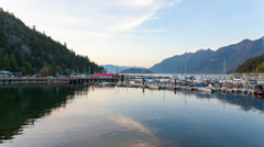 UHD 4k Time Lapse of Clouds at Sunset in Horseshoe Bay BC Canada 4096x2304 Stock Footage