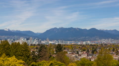 Ultra High Definition Time Lapse of Clouds Over City of Vancouver BC 4096x2304 Stock Footage
