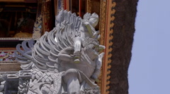 Bali Temple Stone Sculpture 4 Stock Footage