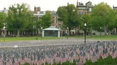 Flag Ceremony Boston Common Stock Footage