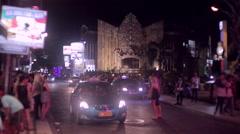 Bali Cars at Night - stock footage
