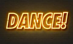 Dance neon sign Stock Illustration