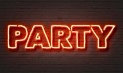Party neon sign - stock illustration