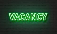 Vacancy neon sign - stock illustration