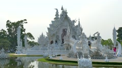 White Temple, Wat Rong Khun, Thailand Stock Footage