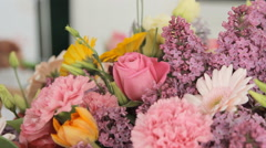Stock Video Footage of Close-up of a gorgeous spring celebratory bouquet
