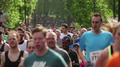 Keep On Running - Thousands Take Part In City Marathon Stock Footage