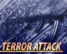 Terror attack Abstract concept digital illustration - stock illustration