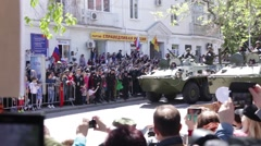 Sevastopol, May 9, 2015. Parade 70th anniversary victory in WW II - stock footage