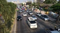 Timelapse of Bangkok transportation traffic Stock Footage