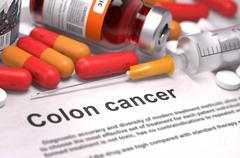Diagnosis - Colon Cancer. Medical Concept - stock illustration