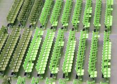 Stock Photo of empty seats in the stands before the sporting event