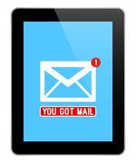 Mail Notification On Black Tablet Stock Illustration