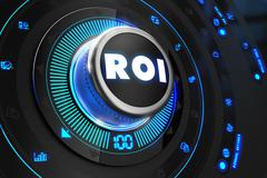 ROI Controller on Black Control Console Stock Illustration