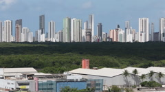 Pan from Recife - stock footage