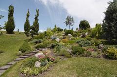 Ornamental garden Stock Photos