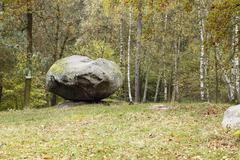 Balanced Boulder Pulpit Stock Photos
