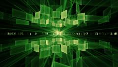 Green Cubes in Rotation, Internet Concept Stock Footage