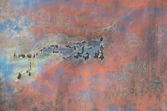 Cracked Flaked - stock photo
