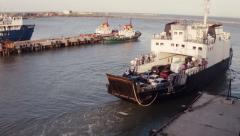 The ferryboat departs from the shore 2. Stock Footage