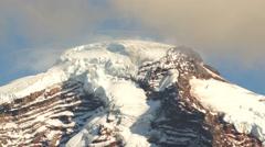 Horizontal Panoramic Mt Baker Heliotrope Ridge Cascade Range  Stock Footage