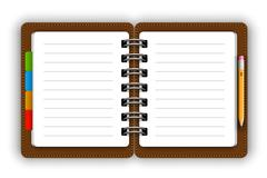 Leather notepad - stock illustration