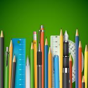 Mass pencils - stock illustration