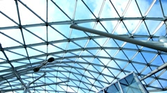 Financial district, ceiling glass Stock Footage
