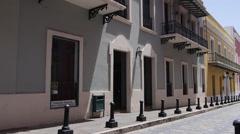 Fortaleza street to governor mansion-Old San Juan Stock Footage