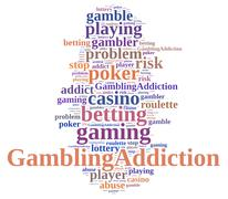 Gambling addiction. Stock Illustration