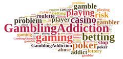 Stock Illustration of Gambling addiction.
