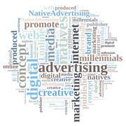 Stock Illustration of Native advertising.