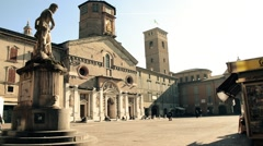 Reggio Emilia cathedral Stock Footage